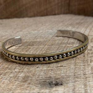 Taxco 925 Sterling Silver Two-Tone Bracelet